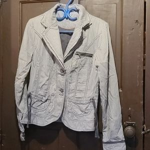 La classe couture distress blazer